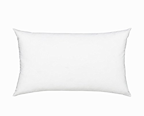 Fennco Styles Polyester Fiber White Pillow Insert - Made in USA (11