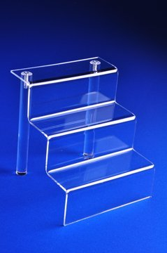 Exceptional Acrylic Stair Step Display (ST7: 6 1/4 H X 6 W