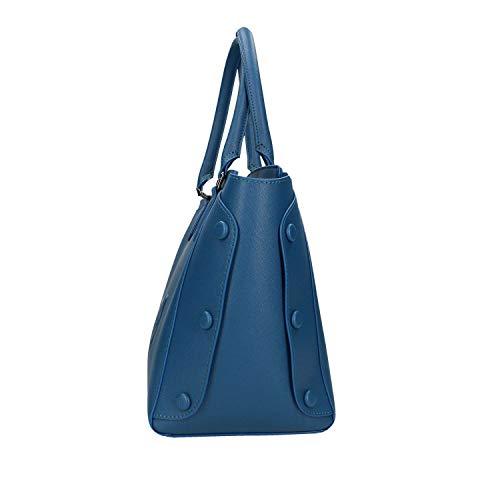 X Melissa Blu Covered Donna Jeans w Tote Trussardi Bag Borsa U290 L H Studs Cm 33x24x16 B1a4wBcq