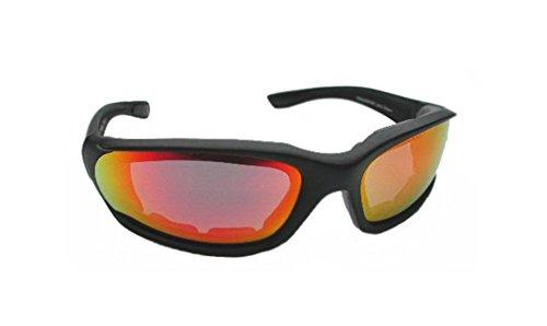 Yellow Orange Mirrored Polycarbonate Lens Foam Padded - Comfort Sunglasses Solar