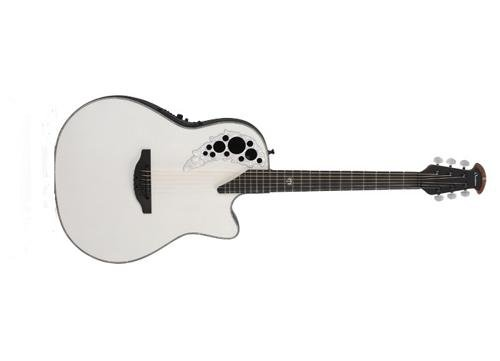 Collection Ebony Pearl Finish - Ovation Melissa Etheridge Signature Elite AA SOlid Spruce Top Acoustic-Electric Guitar with Hard Case, Pearlescent White