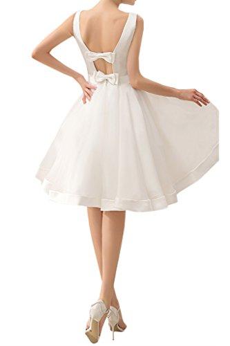 Toskana Braut - Vestido para boda, sin mangas, largo a la rodilla, de organza y satén Minze Gruen