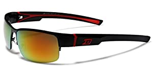 Half Frame Men's Wrap Around Baseball Cycling Sport Sunglasses Small-Medium Size