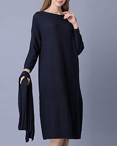 Sciarpa Da Abito Lunghe Mallty E Eleganti Maniche Con A Blue Donna SzF5w5x1Zq