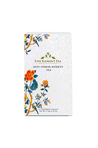 Stress Relief Herbal Tea - 5 Element Tea - Herbal Tea for Anti Stress and Anxiety to Calm Spirit, Promote Stress Relief, and Regulate Pulse