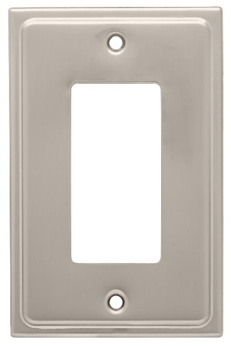 Franklin Brass 126363 Country Fair 1 Decora Wall Plate,  Satin Nickel Light Country Switches