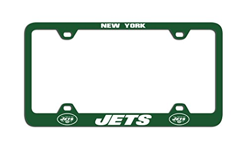 NFL New York Jets Laser License Plate Frame, Team Color