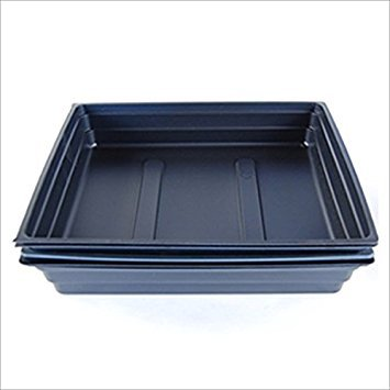 Plant Germination Drip Trays – Pack of 50 – 10″ by 10″ Black Plastic Greenhouse Growing Trays with No Drain Holes – For Seedlings, Microgreens, Wheatgrass, More Review