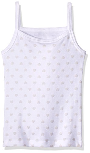 Baby Creysi 00259 GRF Camiseta de Tirantes para Niñas, Color Blanco, 10 Años