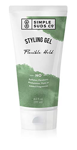 All-natural Hair Styling Gel | Safe for Sensitive Skin | Fragrance-free & alcohol-free | 6 Oz