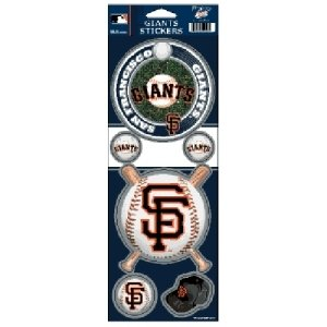 Wincraft MLB San Francisco Giants Prismatic Stickers, Team Color, One Size
