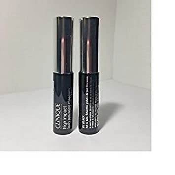 8a19f47ee0d Amazon.com : Clinique High Impact Lash Elevating Mascara in 01 Black, set  of 2 Travel Size .13oz/4ml each : Beauty