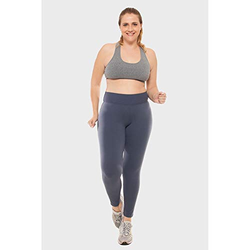 Calça Legging Plus Size Lisa Fitness Grafite-0054