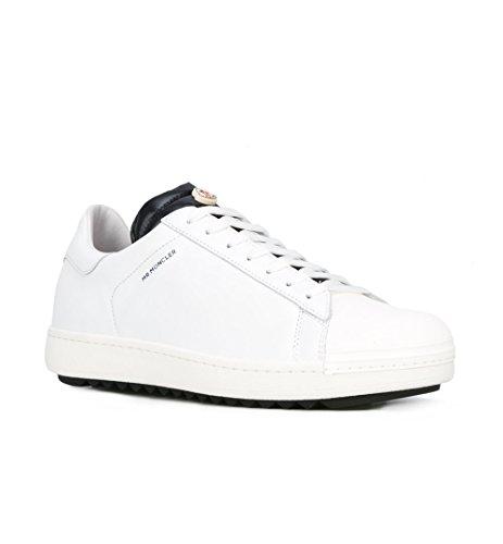 cd3d2e3e13f5 Moncler Sneakers Chaussures Homme En Cuir Modèle Joachim Blanc + Bleu ...