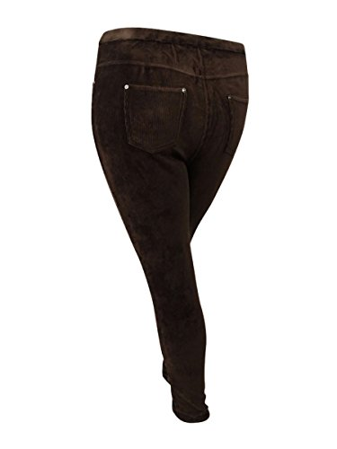 Style & Co. Womens Plus Corduroy Flat Front Leggings Brown 3X by Style & Co. (Image #2)
