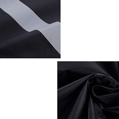 Lungo Nero Dimensioni Impermeabile Dqmsb colore Doppio Riflettente Nero Poncho Imbottito Xxl qXqcwvBHf