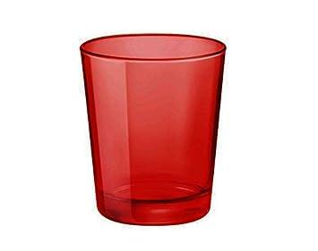 Takestop Juego 6 Vasos Rojos Rojo De Cristal Navidad Navidad