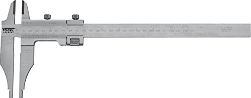 Workshop Caliper, 800 mm/32'' 0,05mmx1/128'', stainless, hardened, chromed, DIN 862, read. mm/inch, with knife-points, with fine adjustment, in a wooden box