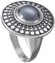Kameleon Antique Disc Ring Size 7 * Jewelpop Authentic Silver New KR23size 7