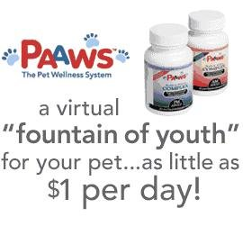 PAAWS Dog Vitamins: Dogs 7 Years Older, Under 35lbs, 1 Year Supply by PAAWS