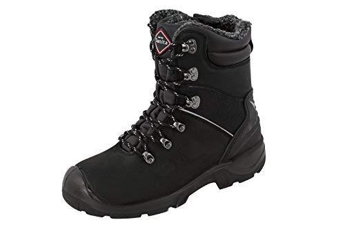 sanita Canyon Botas de seguridad de piel nubuk S3, Negro negro XL