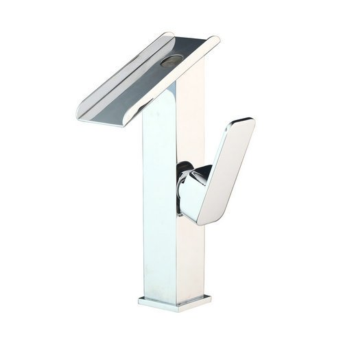 White Maifeini The Best Of A Bathroom Faucet Chrome Waterfall Spout Handle Single Hole  Heat Sink Boat  Click Mixer Basin Mixer, Chrome, White