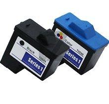 Lovetoner Compatible Replacement for DELL T0529 / T0530 Combo Ink/Inkjet Cartridge Black Tri-Color Dell T0529 Black Inkjet