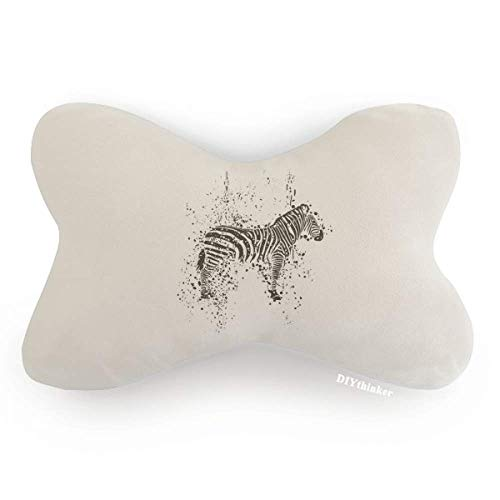 DIYthinker Mexican Zebra Simple Black and White Car Neck Pillow Headrest Support Cushion Pad by DIYthinker