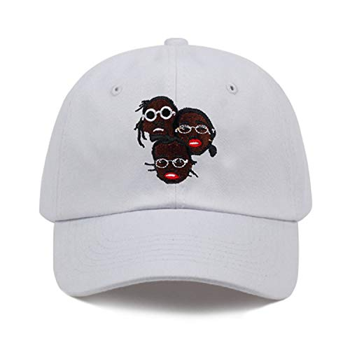 Ilense New USA Hip Hop Dreadlock dad hat Men Snapback Cap Cotton% Baseball Cap for Adult Men Women Golf Cap Hats White