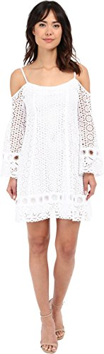 Nanette Lepore Women's Performance Dress, White, 8 by Nanette Lepore