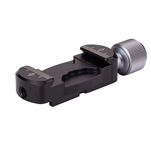 Woohot Universal Aluminum Arca Swiss Clamp with Hot Shoe Mount Adapter and 1/4
