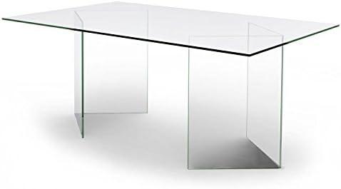 designement Olivia Mesa/Escritorio, Vidrio, Transparente, 180 x 100 ...