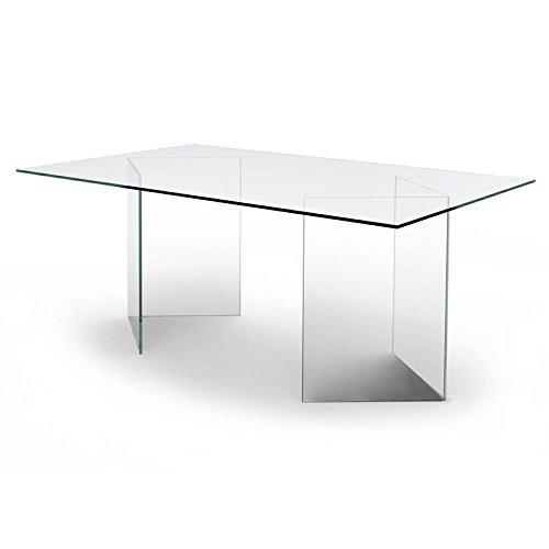 designement Olivia Mesa/Escritorio, Vidrio, Transparente, 180 x ...