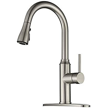 Kitchen Faucet Pull Down Arofa A01ly Commercial Modern Single Hole