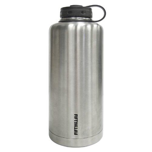 Icy-Hot Hydration Lifeline acero inoxidable con aislamiento de doble pared cilíndrica al estilo Growler–capacidad,...