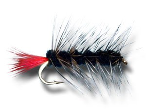 Woolly Worm - Black Fly Fishing Fly - Size 10 - 3 Pack