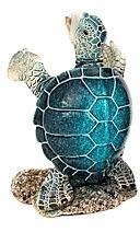 Blue Sea Turtle Wine Bottle Holder | 8'' Tall | Nautical Decor Bar Accessories