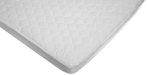American Baby Company Waterproof fitted Quilted Portable/Mini Crib Mattress Pad Cover - Waterproof Quilted Crib Mattress Pad