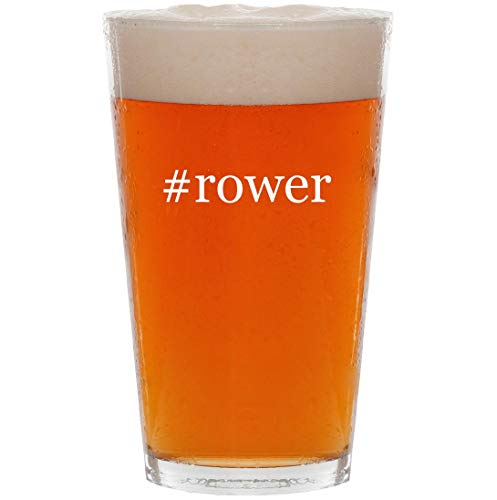 #rower - 16oz Hashtag Pint Beer Glass