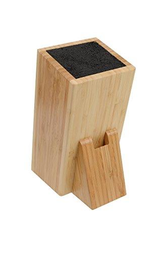GRÄWE Messerblock universal aus Bambus inkl. Schlitz für Scheren