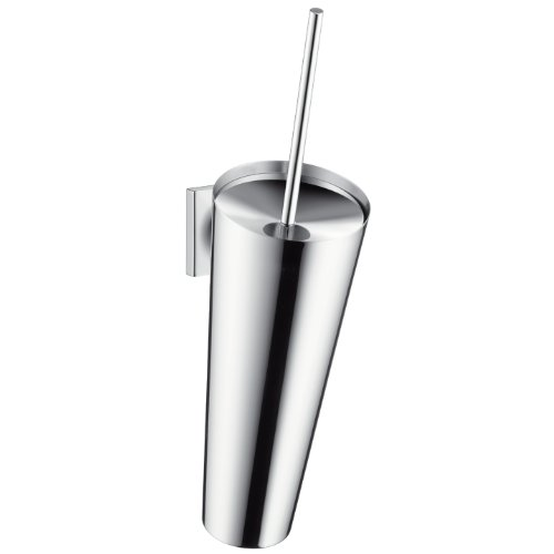 - AXOR 42735000 Starck Organic Wall-Mounted Toilet Brush, Chrome