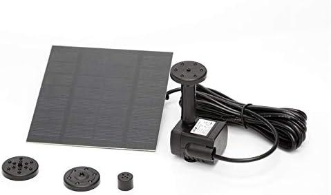 ガーデン用噴水 ソーラーウォーターポンプソーラー噴水フローティングミニチュアブラシレスDCウォーターポンプブラック ソーラーミニ噴水 (Color : Black, Size : M)