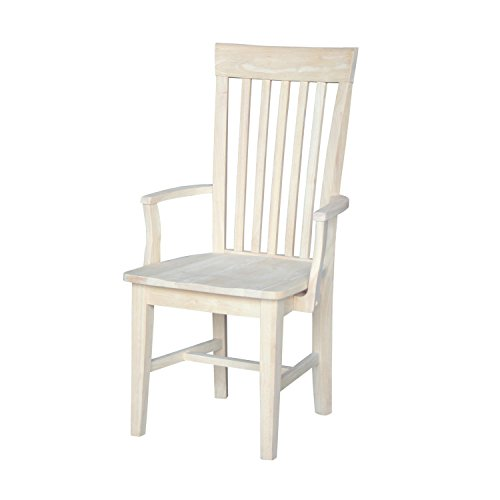 International Concepts C-465A Tall Mission Chair with Arms, Unfinished