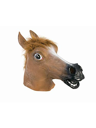 Forum Novelties Brown Horse Deluxe Latex Farm Animal Costume Mask -