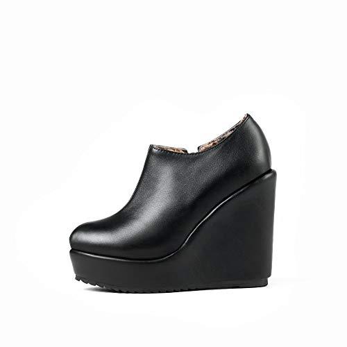 Bottes Basses Abl10831 Plateforme Solide Uréthane Femme Noir Chaussures Balamasa Pour En xqUwAY1OI