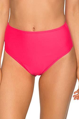 - Sunsets Women's The High Road Full Coverage Bikini Bottom Swimsuit, Hot Pink, Large