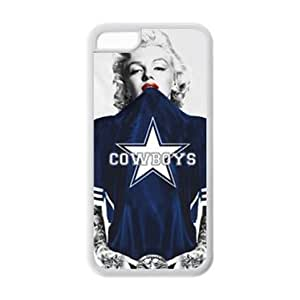 iPhone 5C Case - Marilyn Monroe in NFL Dallas Cowboys blue Jersey Rubber (TPU) Cases Accessories for Apple iPhone 5C (Cheap IPhone 5)