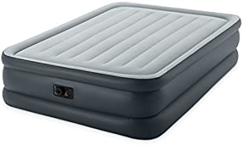 Intex Dura-Beam Queen Airbed with Built-In Electric Pump