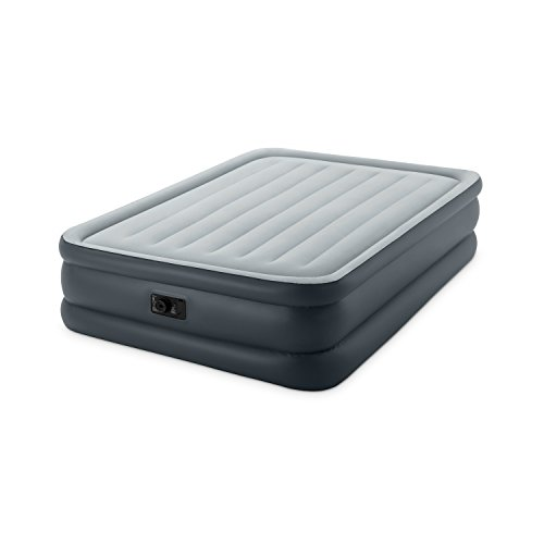 Intex Dura-Beam Standard Series Essential Rest Airbed with Built-In Electric Pump, Queen - Inflatable Air Bed