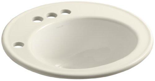KOHLER K-2202-4L-47 Brookline Self-Rimming Bathroom Sink with 4